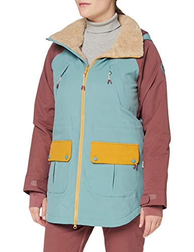 Burton Prowess, Giacca da Snowboard Donna, Trellis/Rose Brown/Harvest Gold, S