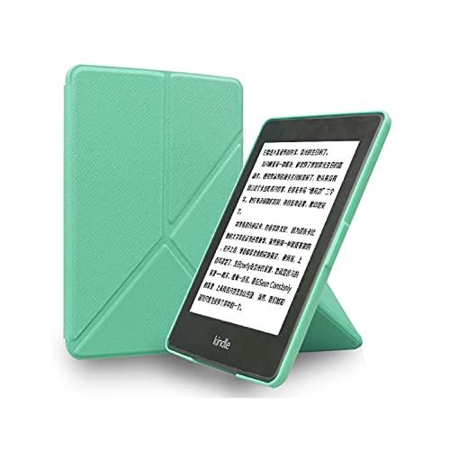 LWCOTTAGE Kindle Carcasas Y Fundas - Kindle Paperwhite 2 3 Caso Plegable PU Cuero Smart Cover para Amazon Paperwhite Dp75Sdi con Sleep/Wake Up E-Book Shell, Verde Menta, para Dp75Sdi