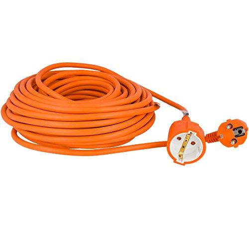 Oramics stroomverlengkabel 10 20 30 m oranje wit tot 3500w 16A 20 m oranje