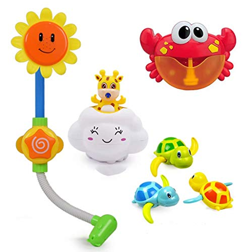 Sale!! Baby bath toys Crab Children's Water Toys Baby Shower Baby Shower Bath rain Clouds (Package 3...
