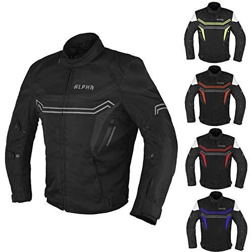 ALPHA CYCLE GEAR MOTORCYCLE ALL SEASON JACKET (BLACK, MEDIUM)
