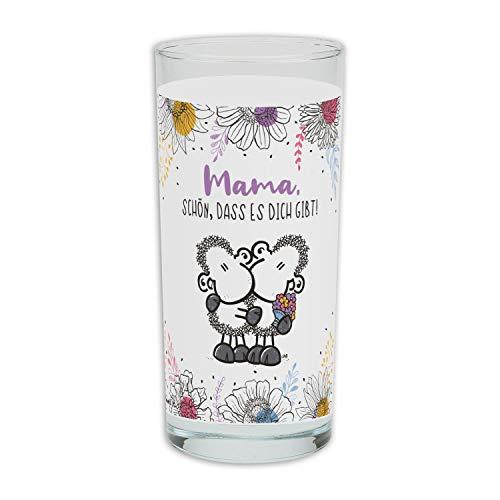 Die Geschenkewelt Sheepworld 46297 Mama Schön dass es dich gibt, Glas, 50 cl, Motivdekor Trinkglas