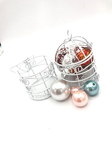 Set OF 12 Fillable Small White Bird Cage swet16 Quinceanera Bridal Shower Wedding Party Favor