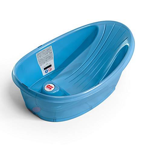 OKBABY Onda Baby - Vaschetta Compatta per il Bagnetto del Neonato 0-12 Mesi - Azzurro