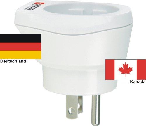 hoogwaardige design reisadapter Duitsland naar Canada 220-230V veiligheidsstekker omzettingsstekker reisstekker netstekker - Duitsland - Canada