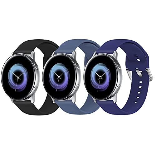 Bracelet de rechange pour montre connectée Samsung Galaxy Watch Active / Active 2 & Watch 3 40 mm 41 mm 42 mm 44 mm Gear S2 Classic/Gear Sports