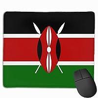 ケニアの旗 マウスパッド 25×30 大判 ノンスリップ 防水 ゲーミング おしゃれ マウスの精密度を上がる