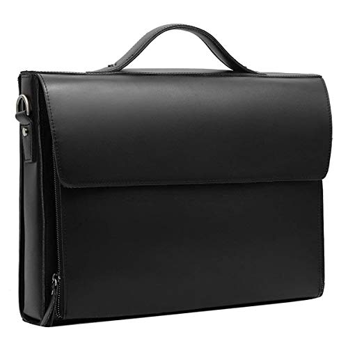 Leathario Leather Briefcase for Men Leather Laptop Bag Shoulder Messenger Bag Business Work Bag