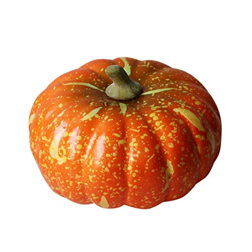 WZHC Masquerade Halloween Decorations, Halloween Artificial Pumpkin Simulation Halloween Decor, Lifelike Scary Halloween Decoration for Halloween Party Outdoor Decoration outdoor (Color : Orange)