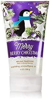 Bath & Body Works Sparkling Snowflake Scrub Merry Berry Christmas 8oz