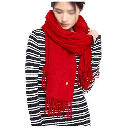 Xu Yuan Jia-Shop Moda Bufanda Chal La Lana de Las Mujeres de la Bufanda El otoño y el Invierno cálido Bufanda Multicolor Opcional de Doble Uso a Largo mantón Manta Bufanda acogedora (Color : L)
