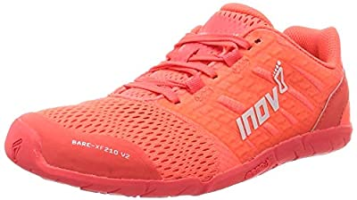 Inov-8 Womens Bare-XF 210 V2 - Barefoot Minimalist Shoes - Weightlifting Gym - Coral - 8