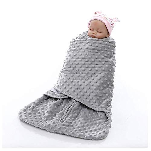 Superzachte Baby Holding Deken Anti-Shock Slaapzak Comfortabele Deken (30 * 60 Cm), Grijs