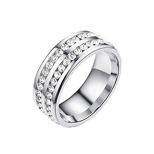 Erfula Silber Abnehmen Ring Lovers Ring Edelstahl Magnetischer Ring Zum Abnehmen Damen Herren Gewichtsverlust Ring Fur AntiMüdigkeit Gewicht Verlieren cool