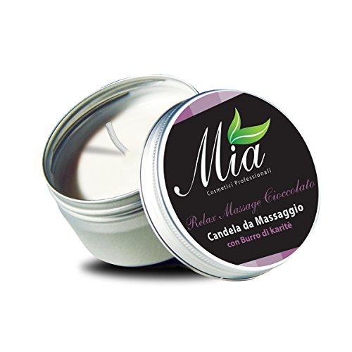 Candela da Massaggio al Cioccolato con Burro di Karitè - Relax Massage 80 ml