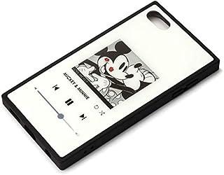【カラー:ホワイト】iPod touch 第7世代 2019 ディズニー 耐衝撃 スクエア ハイブリッド ケース ガラス ガラスケース キャラクター ソフト ソフトケース ハード ミッキー ミニー DISNEY 第6世代 2015 第5世代 1...