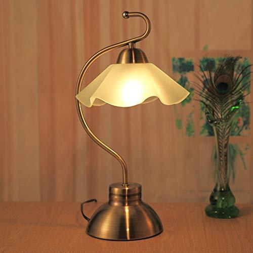 Lámpara de Mesa Lámpara de jardín Retro lámpara de Mesa Pantalla de Cristal lámpara de Noche de Metal lámpara de Ojo botón lámpara de Mesa Dormitorio Estudio Sala de Estar café