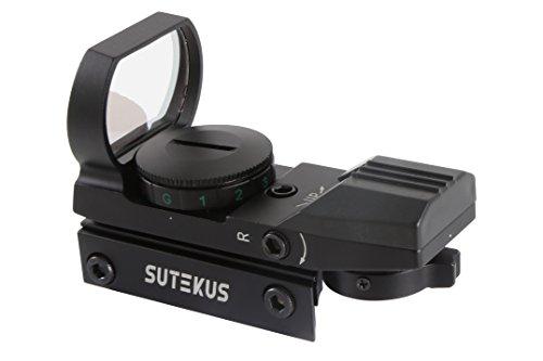 Sutekus【1年間保証】マルチドット照準器ドットサイト2色4パターン20mmレール規格対応[正規品](照準器本体のみ)