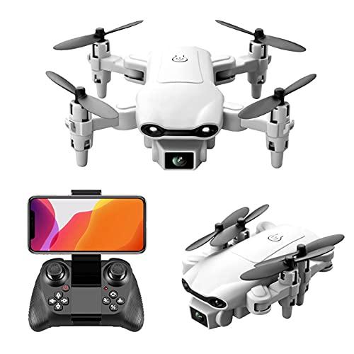 Mini Drone per Bambini con Doppia Fotocamera, Quarcoptero RC HD 4K Pieghevole per Ragazzi Ragazze con Mantenimento dell'Altitudine, Avvio con un Tasto, Modalità senza Testa, Tap Fly, Regolazione della