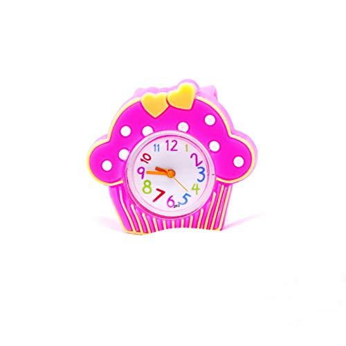 SFBBBO Reloj niño Relojes para niñas y niños Reloj para niños Reloj de Silicona Rosa para niña Cinturón de Juguete Relojes de Cuarzo RosePinkWatch
