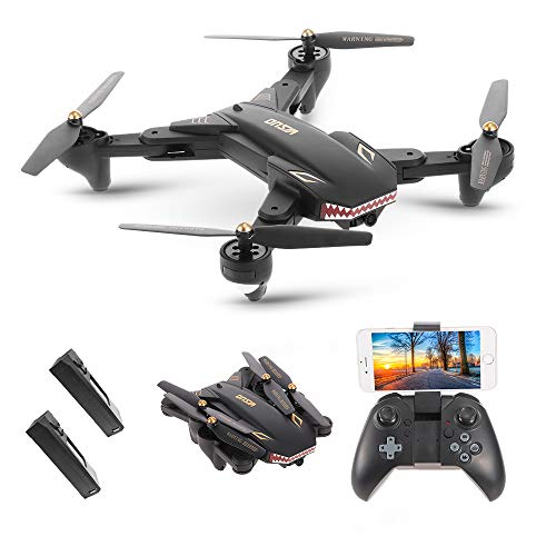 Goolsky VISUO XS809S Wifi FPV Drone con 2.0MP Cámara Gran Angular One Key Return Altitude Hold G-sensor Quadcopter con una Batería Extra
