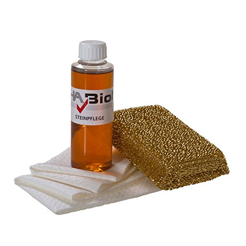 HABiol Steinpflegeset mit Steinöl Pflegeöl für Stein