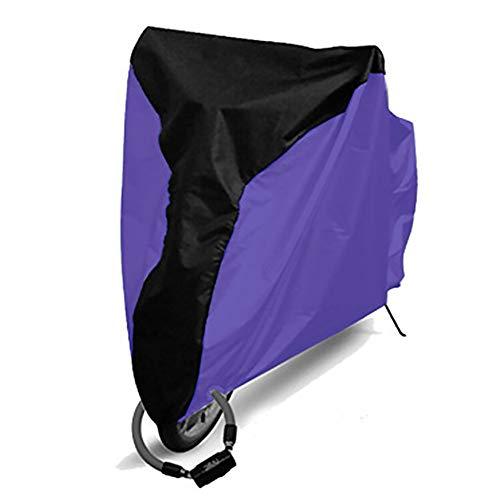 VerneAnn Cubierta para Bicicleta Cubierta de Protección contra el Polvo para Bicicleta Protector de Lluvia Exterior S-XL Protección UV Impermeable (XLMedio Negro+Plata), No nulo, negro, púrpura, extra-large