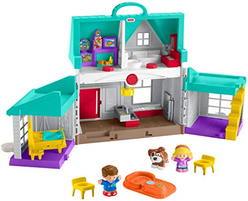 Fisher-Price Little People Big Helpers Home, Blue (Frustration Free Packaging)