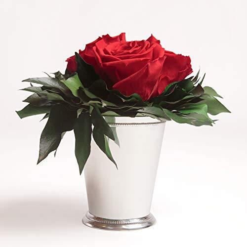 Composition Bouquet Fleurs Eternelles 3 Roses Rouges Conservées Durée de vie 3 ans