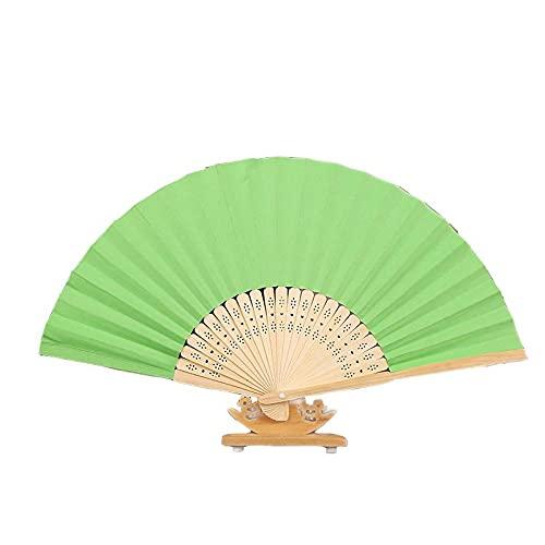 PetKids - Abanico plegable de bambú para niños, para manualidades, pintura para regalos de boda, fiesta, baile, cosplay, decoración