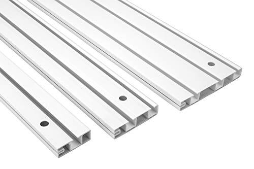 2 Meter |Gardinenschiene | PVC |weiß | 2000x95mm | Hexim | OM-3