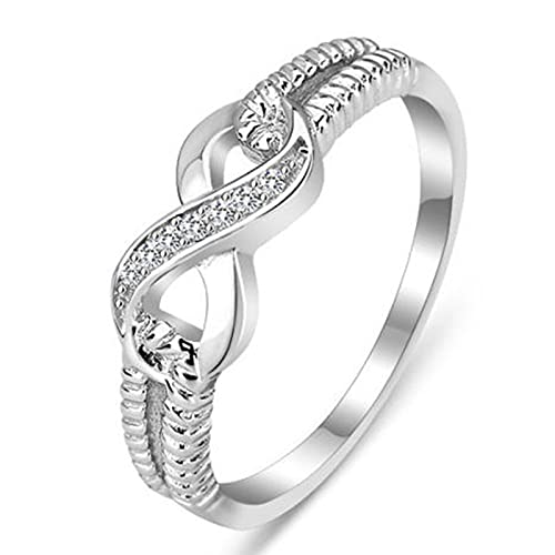 Extraordinary Women's Rings Filled with Jewelry, Suitable for Men and Women Engagement Ring Accessories (Ring Size : 11)