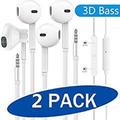 【AUDIO & ENHANCED BASS】: WEIZY Strong bass, comfortable earbud headphones with a great seal which minimize outside noise so you can hear the beats clearly. The perfect portable earbud headphones offer sleek style and an excellent on-the-go choice for...