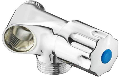 Cornat machine enkelventiel - 1/2 inch AG - voor het aansluiten van wasmachine & vaatwasser - met terugslagklep - uit messing - verchroomd/apparaatventiel/kraan / TEC303401