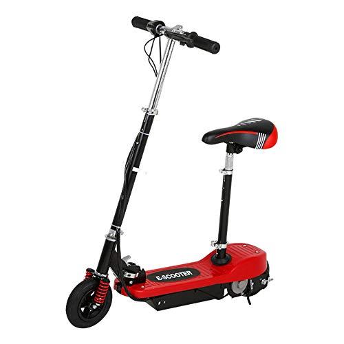 Opvouwbare elektrische scooter, schokabsorberende comfortabele zitting scooter met lithium batterij lange levensduur, 6 inch ultra-light elektrische step voor volwassenen