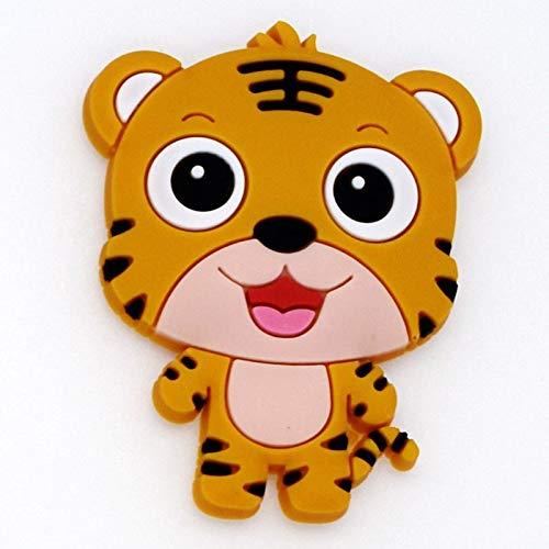 Lwefght 1 unid imanes de refrigerador de Silicona decoración del hogar de la Historieta Animal imanes de Nevera Zodiaco Regalos para niños Pegatina de Pizarra (Color : Tiger)