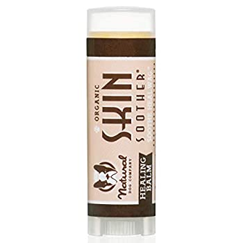 Natural Dog Company Skin Soother Healing Balm Relieves Dry Itchy Skin Allergies Skin Irritations Hot Spots & Wounds Organic All Natural Ingredients 0.15oz Trial Stick