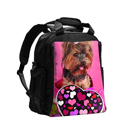Yorkie - Bolsa de pañales para perro con caramelos, gran capacidad, multifunción, bolsa de pañales para mamá y papá