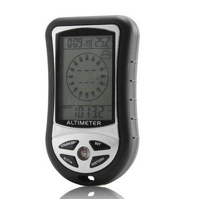 Medidor de Senderismo AHL Digital compás Altimeter barómetro Termo