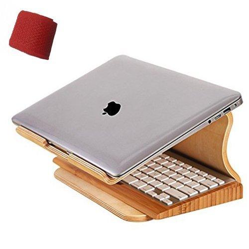 Original Samdi Elegent Wooden Dock Laptop Vertical Desktop Radiating Holder Stand for Macbook Air Macbook Pro & Other Laptop Notebook Heat Dissipation (Birch)