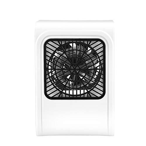 YRRA Mini ventilador caliente y frío, termostato de escritorio con detección de pantalla táctil para escritorio de oficina en el hogar, blanco, 12 x 10 x 17,8 cm