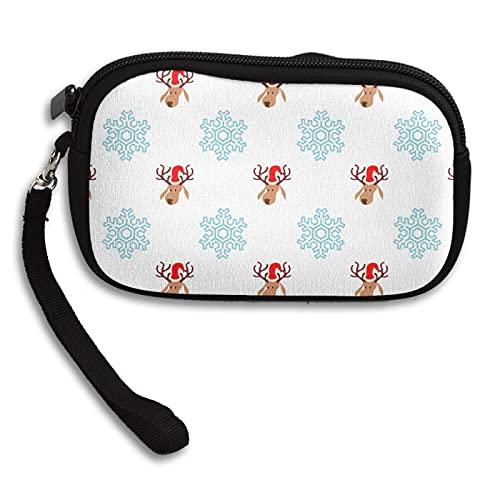 Papel de embalaje de Navidad Monedero de la moneda de la caja dominante de las señoras Mini bolso cosmético