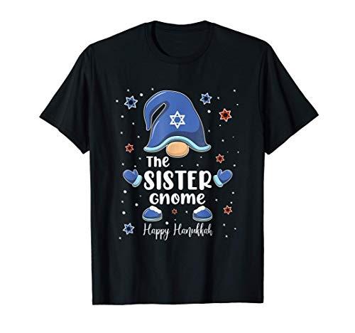 Sister Gnome Funny Hanukkah Family Matching Gift Pajama T-Shirt