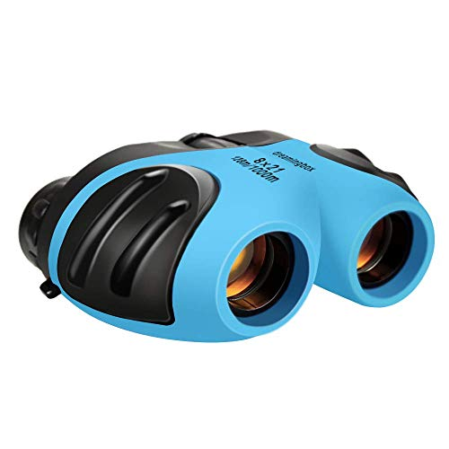 Toys for 4-5 Year Old Boys, Binoculars for Children, Compact Telescope to Wildlife & Theater Hunter Optical Zoom Gifts for 4-10 Years Old Boy Stocking Stuffers Sky Blue