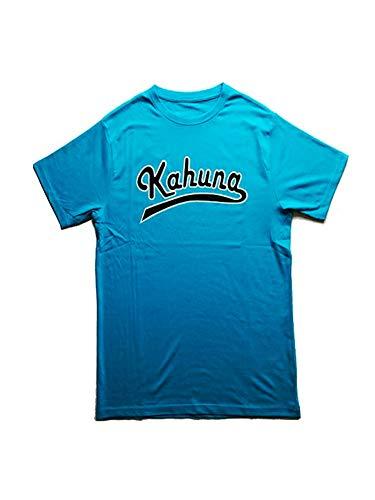 Kahuna Store - Camiseta Surf/Skate/Snow Vintage Baseball Letters (Medium (M), Azul Turquesa)