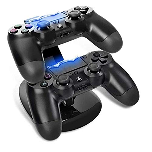 Charging Dock Stations | PS4 Controller Charger - Dual USB Playstation 4 Charging Station - Wireless Remote Charger Stand - Docking Stand Gaming Accessories for Sony Playstation 4/ PS4/ Slim/ PS4 Pro