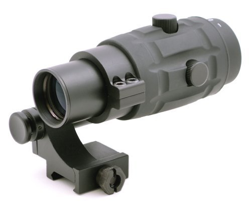 TMS Tactical 3X Magnifier Scope with Quick Flip to Side FTS Mount 36mm Co-Witness Cowitness Center Height for Red Dot Sights and EOTech Sights
