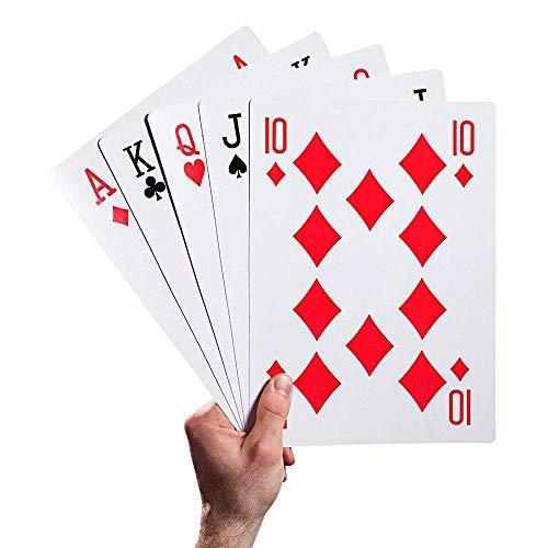 Yanchad Riesig Spielkarten Extragroß Solitaire Spiel Groß Karte Kreativ Poker 5 Mal Für Thema Spiel Nacht Magisch Partybedarf Picknicks Und Bbqs