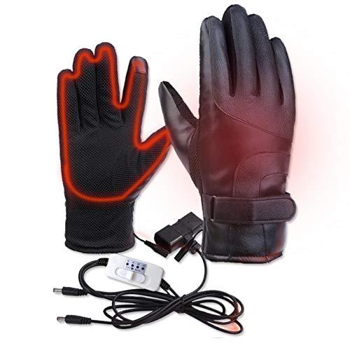 dewdropy Guantes térmicos para motocicleta, guantes térmicos para vehículos eléctricos termostáticos de 4 velocidades, guantes de equitación táctiles resistentes al viento e impermeables