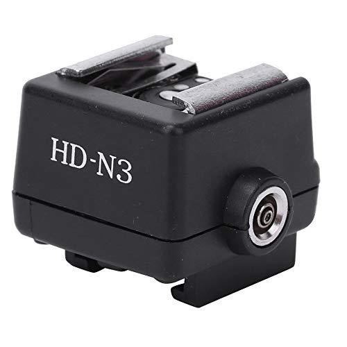 Flitsschoenadapter, HD-N3 pc-flitslicht Flitsschoenmontageadapter Accessoire voor Sony-videocamera, lichtgewicht, compact formaat, eenvoudig te installeren, hoogwaardig pc-materiaal